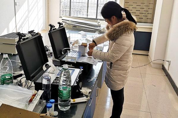 湖南新化县农产品市场购入恒美食品安全检测仪