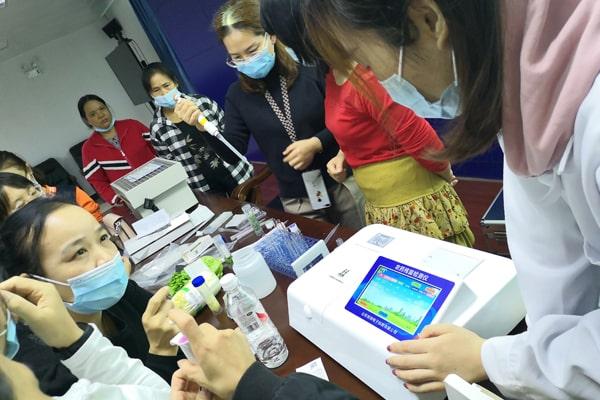 恒美科技农残仪走进广西南宁市场监督局